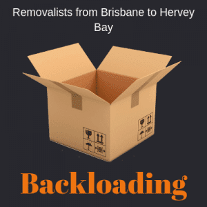 Backloading from Brisbane to Hervey Bay